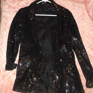 Zara Oversized Sequin Blazer